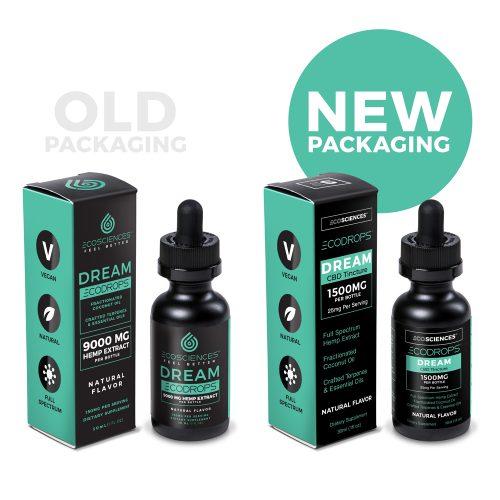 Old vs New Packaging for ECODROPS Dream