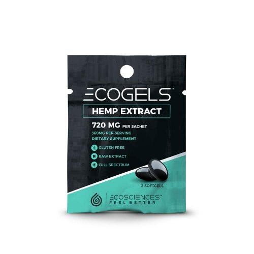 ECOGELS Full Spectrum CBD Gel Capsule Travel Sachet