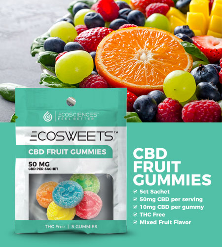 CBD fruit flavored gummies