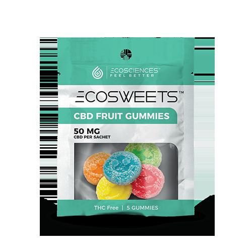 5ct bag of ECOSWEET CBD gummies